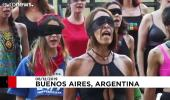 Şili'deki feministlerin dans performansı Arjantin'e uzandı