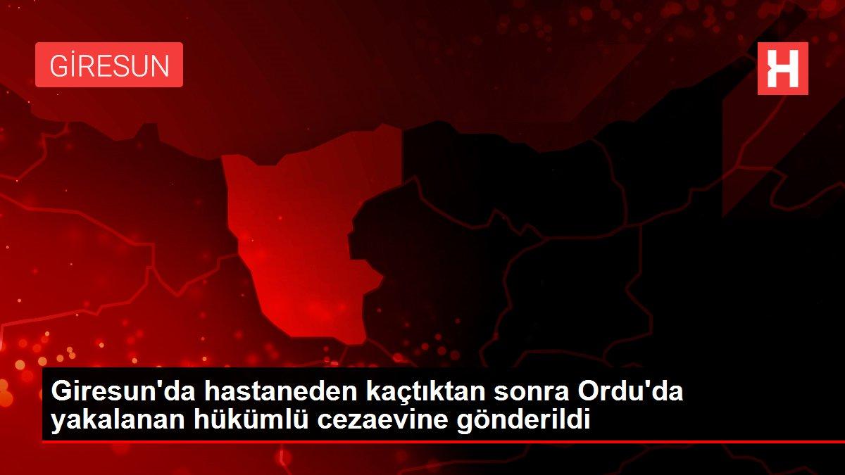 Giresun'da hastaneden kaçtıktan sonra Ordu'da yakalanan hükümlü cezaevine gönderildi