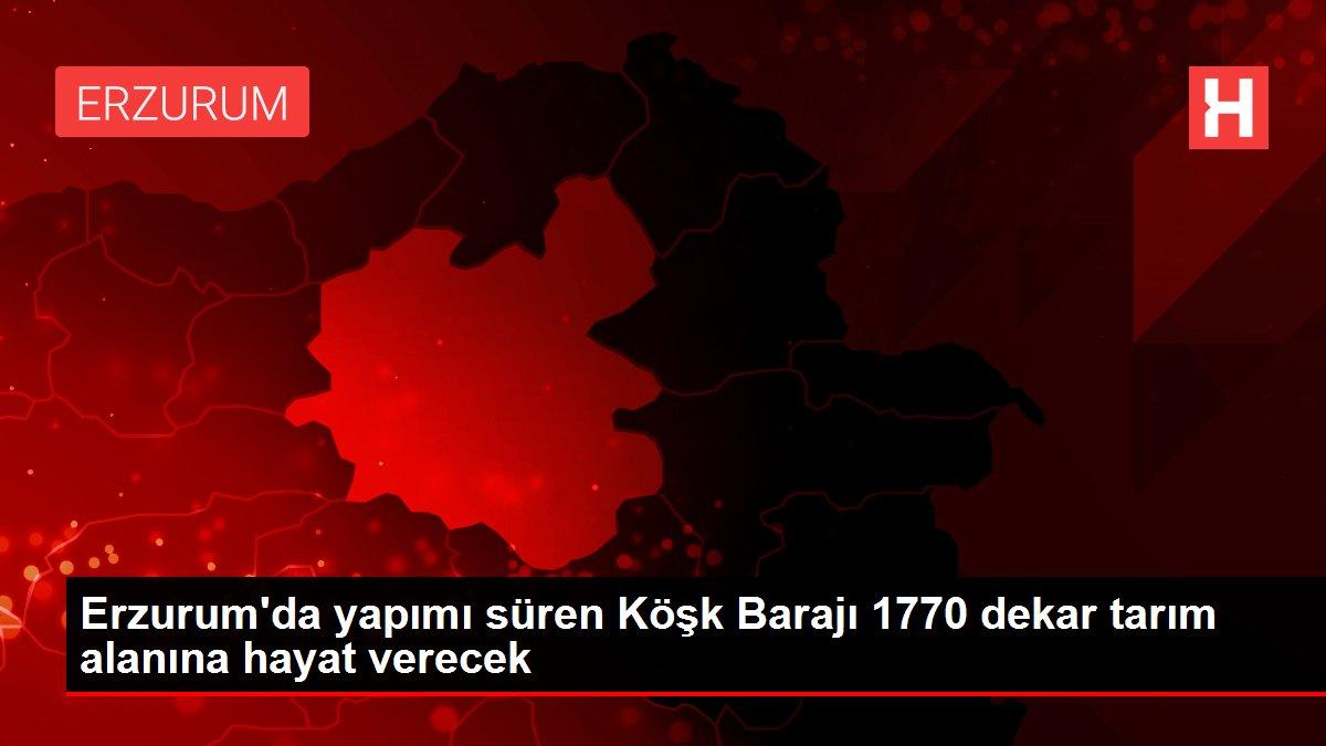Erzurum'da yapımı süren Köşk Barajı 1770 dekar tarım alanına hayat verecek