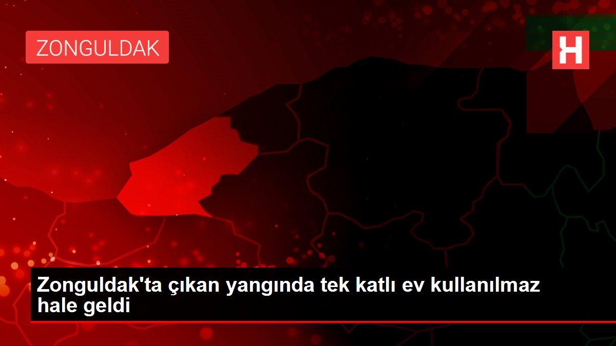 Zonguldak'ta çıkan yangında tek katlı ev kullanılmaz hale geldi