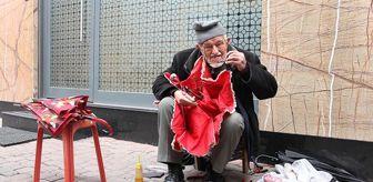 Dursun Yıldız: 90 yaşındaki dede gözlük kullanmadan şemsiye tamir ediyor