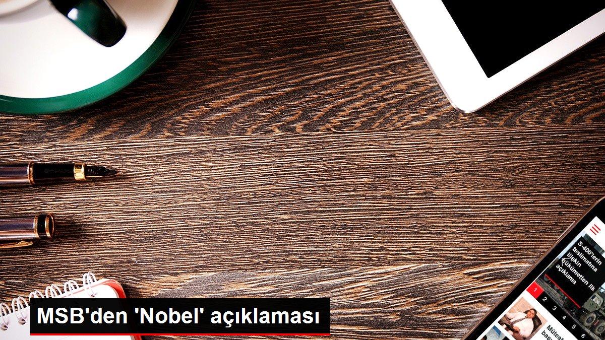 MSB'den 'Nobel' açıklaması