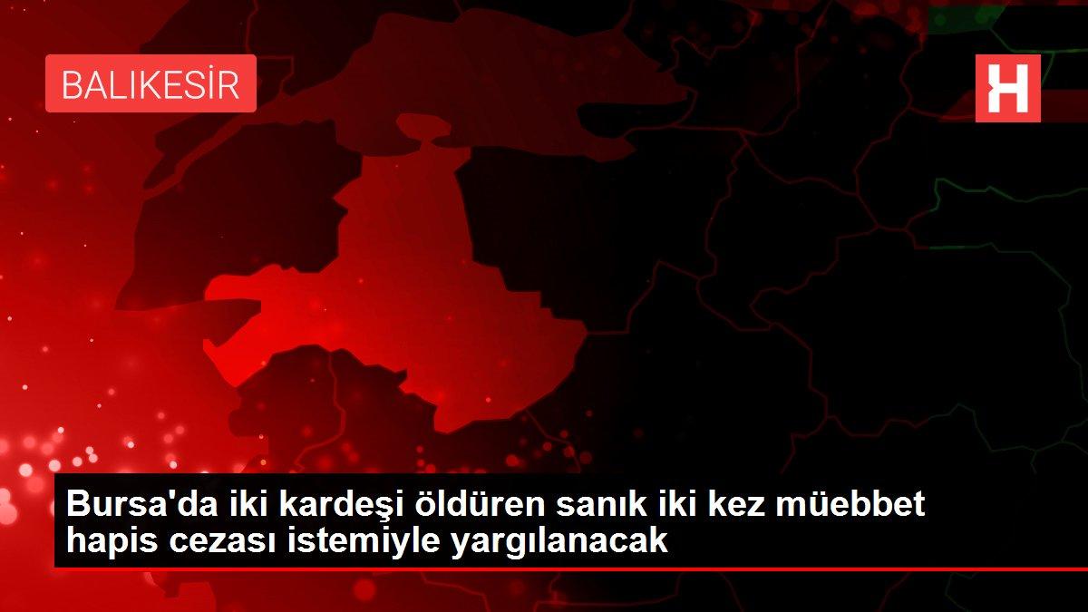 Bursa'da iki kardeşi öldüren sanık iki kez müebbet hapis cezası istemiyle yargılanacak