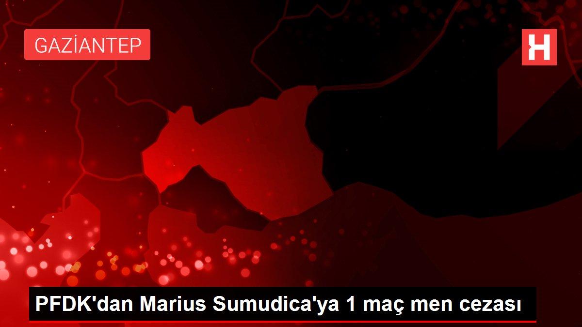 PFDK'dan Marius Sumudica'ya 1 maç men cezası