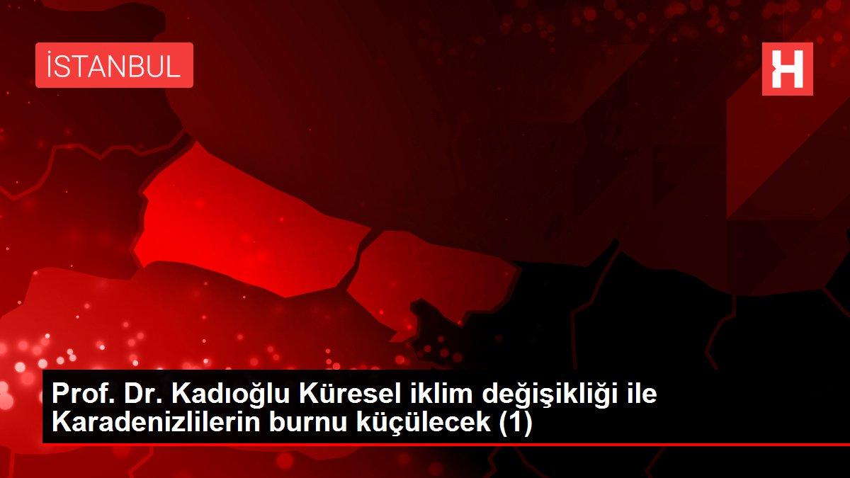Prof. Dr. Kadıoğlu Küresel iklim değişikliği ile Karadenizlilerin burnu küçülecek (1)