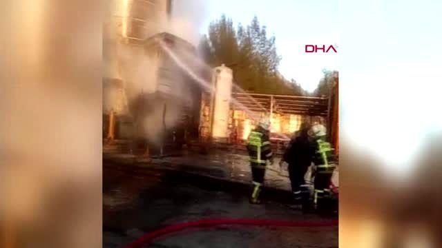 Adıyaman'da petrol tankındaki yangın korkuya neden oldu