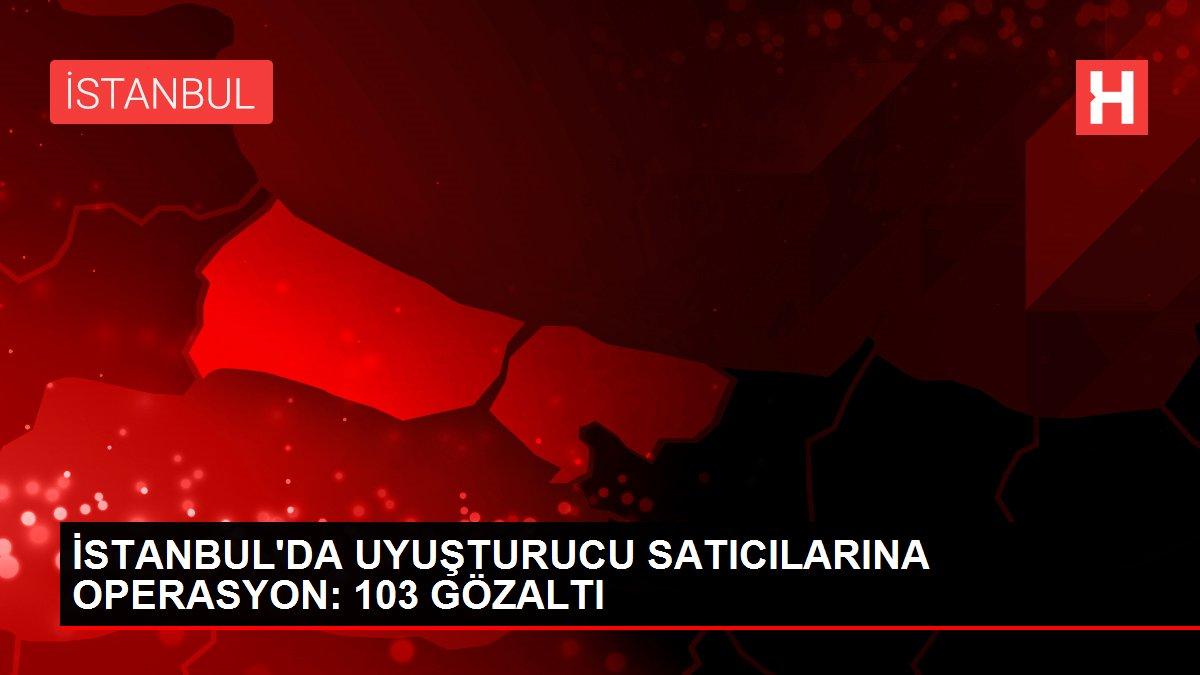 İSTANBUL'DA UYUŞTURUCU SATICILARINA OPERASYON: 103 GÖZALTI