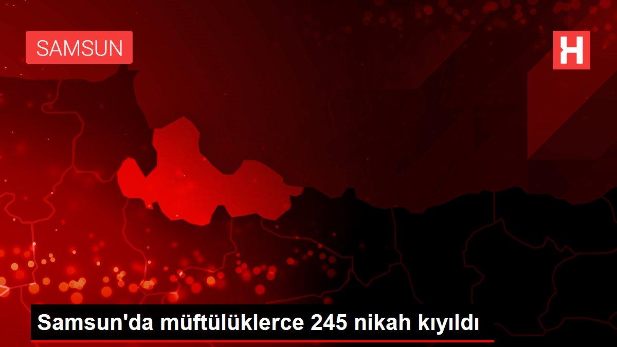 Samsun'da müftülüklerce 245 nikah kıyıldı