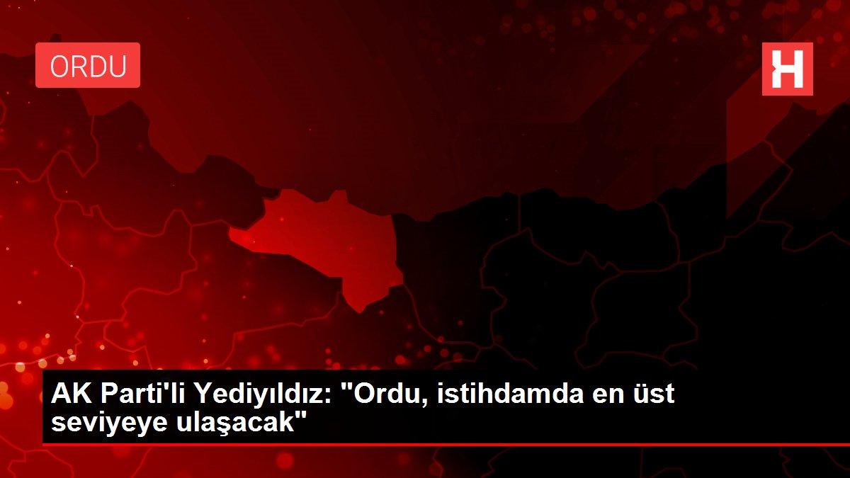 AK Parti'li Yediyıldız: Ordu, istihdamda en üst seviyeye ulaşacak
