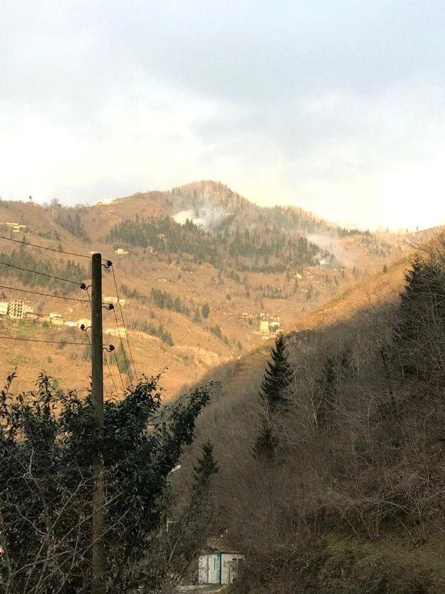 Trabzon'da örtü yangınları sürüyor