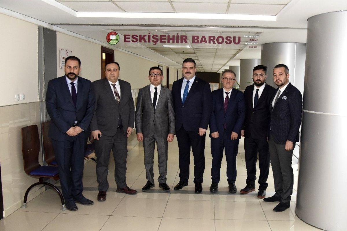 Rektör Çomaklı'dan Eskişehir Baro Başkanı Av. Mustafa Elagöz'e ziyaret