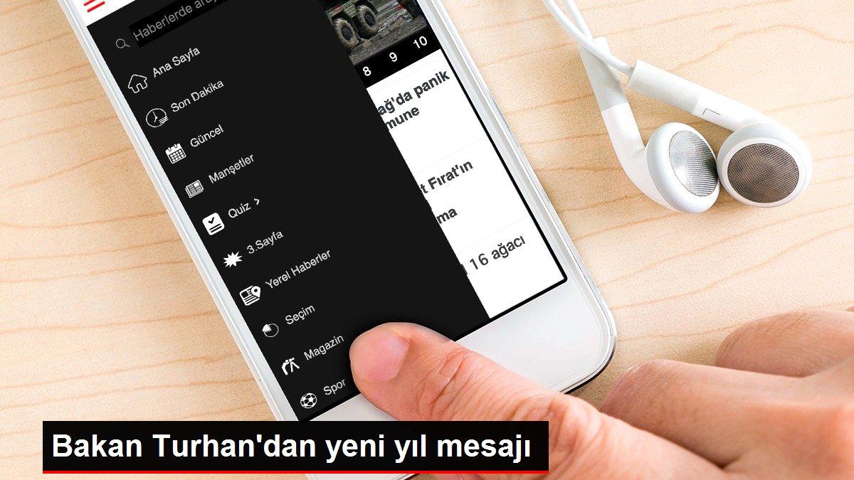 Bakan Turhan'dan yeni yıl mesajı