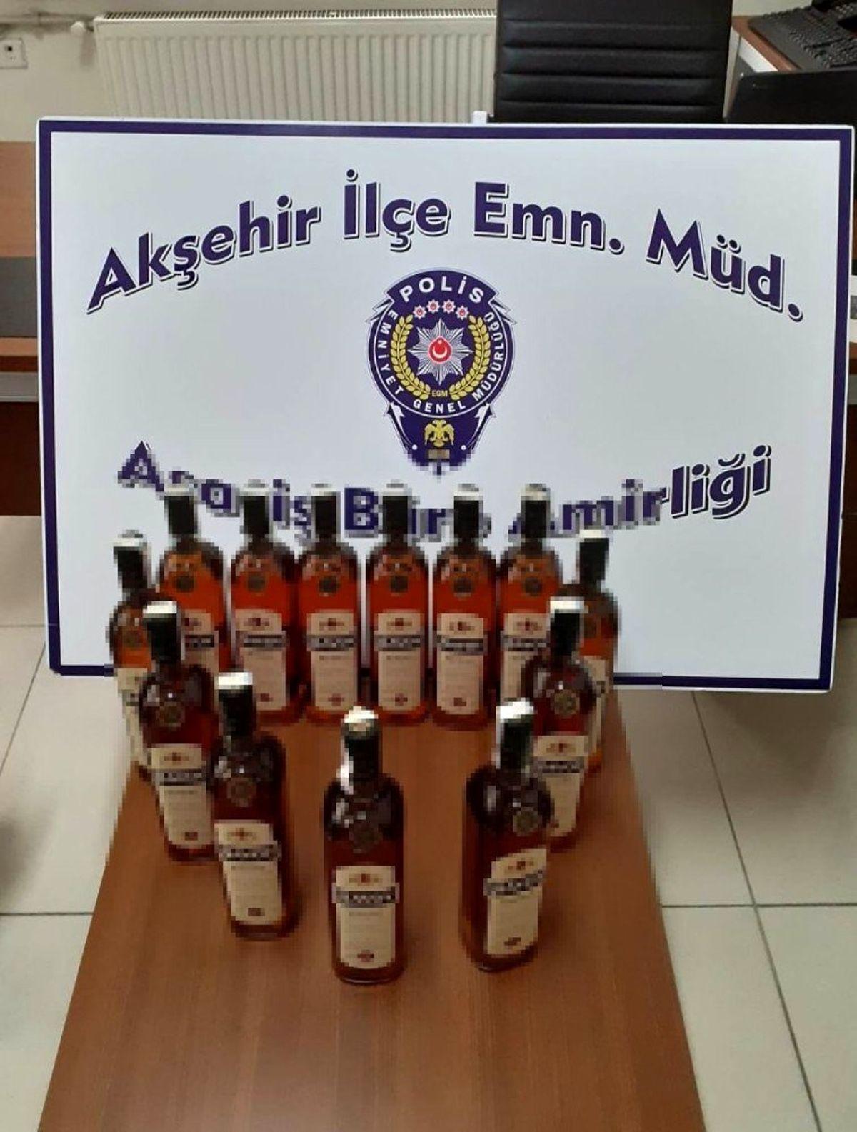 Akşehir'de sahte içki denetimi