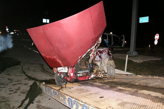 Kula'da kaza yapan sürücü 193 promil alkollü çıktı