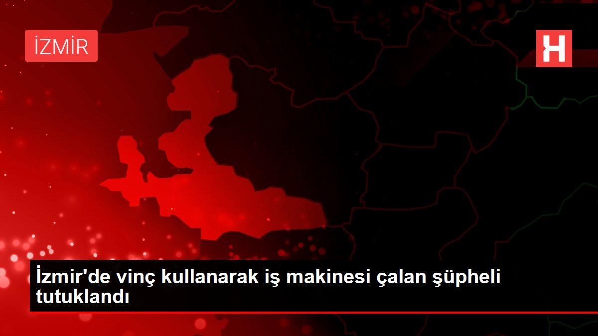 İzmir'de vinç kullanarak iş makinesi çalan şüpheli tutuklandı