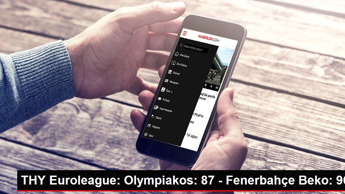 THY Euroleague: Olympiakos: 87 - Fenerbahçe Beko: 96