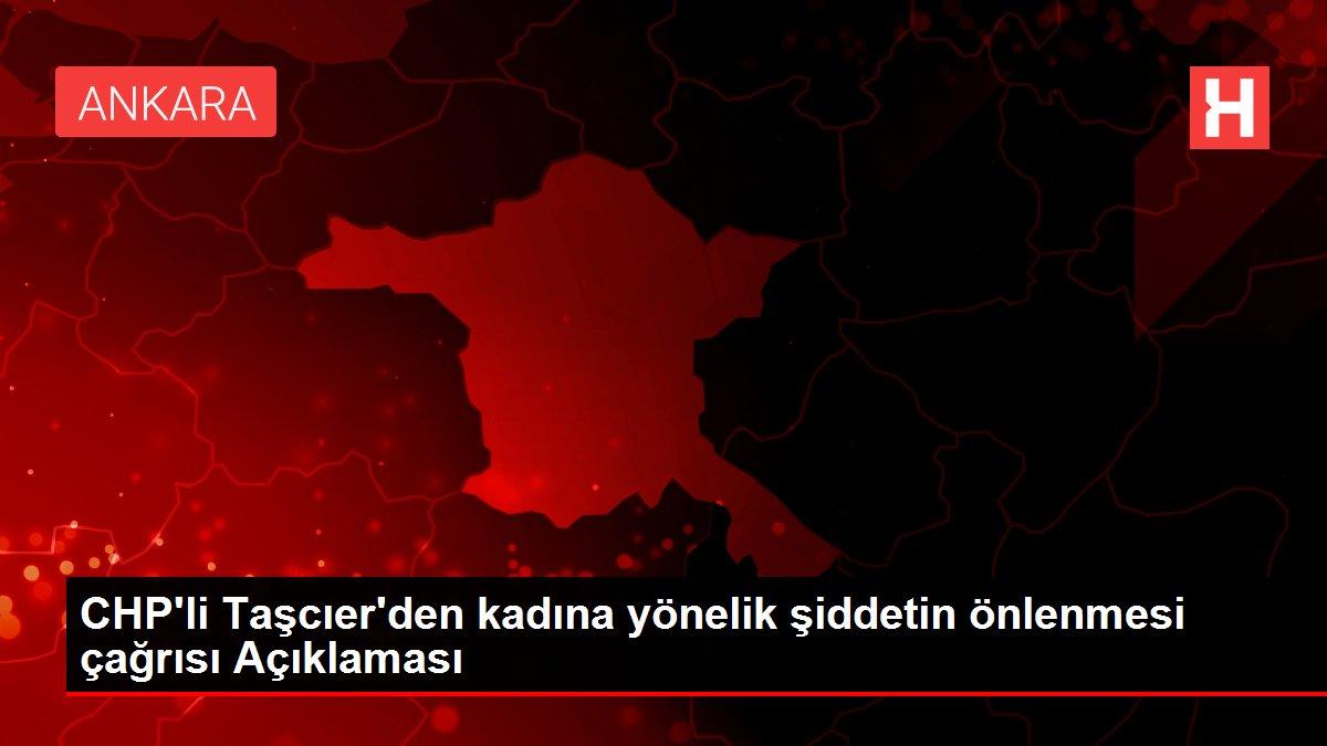 CHP'li Taşcıer'den kadına yönelik şiddetin önlenmesi çağrısı Açıklaması
