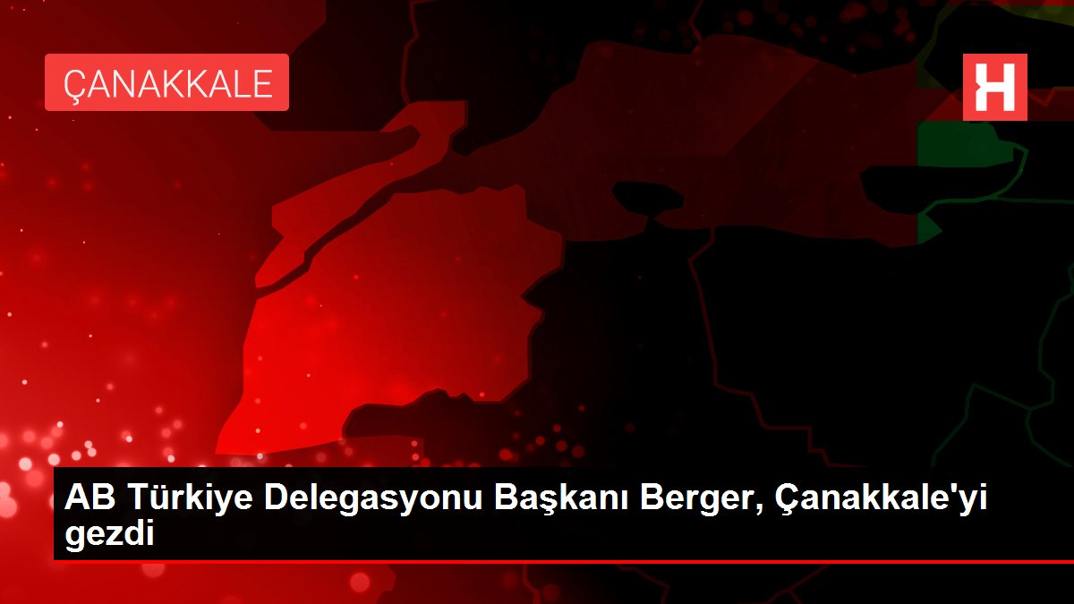 AB Türkiye Delegasyonu Başkanı Berger, Çanakkale'yi gezdi