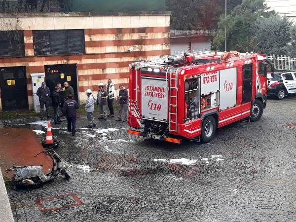 Beykoz'da otoparkta yangın, üst katlarda mahsur kalanlar kurtarıldı