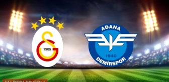 Galatasaray Adana Demirspor maçı ne zaman, saat kaçta, hangi kanalda? Galatasaray Adana Demirspor canlı izle, şifresiz izle!