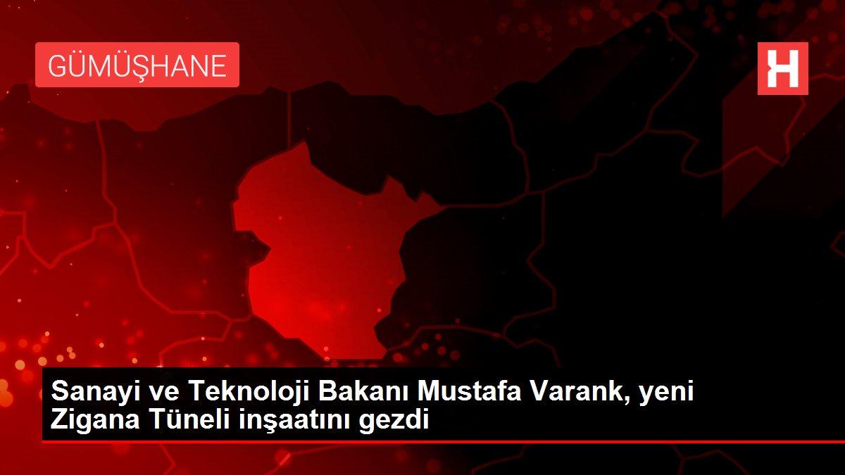 Sanayi ve Teknoloji Bakanı Mustafa Varank, yeni Zigana Tüneli inşaatını gezdi