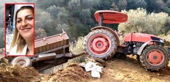 Zeytin toplamaya giden kadın, devrilen traktörden düşerek hayatını kaybetti