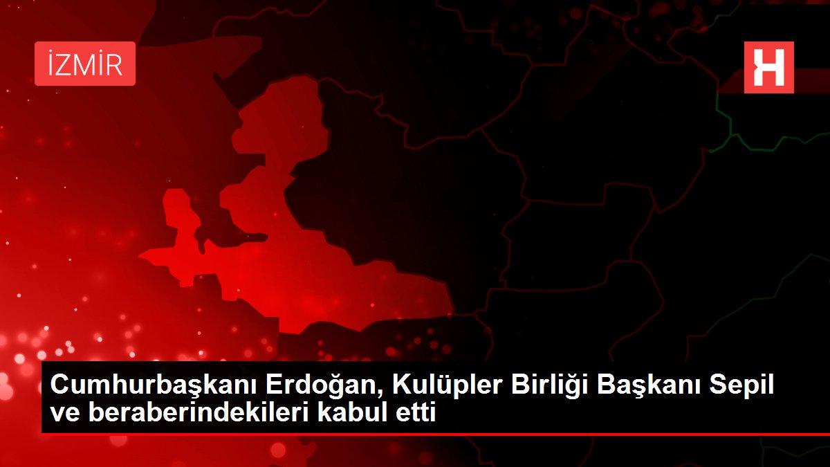 Cumhurbaşkanı Erdoğan, Kulüpler Birliği Başkanı Sepil ve beraberindekileri kabul etti