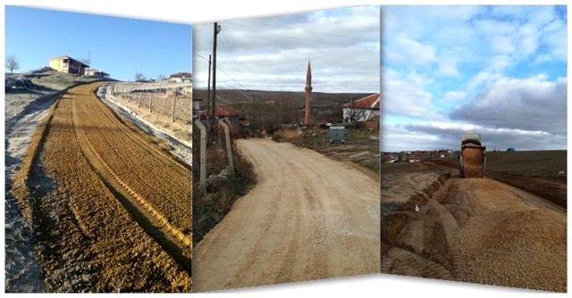 Kırşehir'de yol yapım çalışmaları