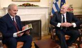 Halife hafter, yunanistan dışişleri bakanı dendias ile görüştü