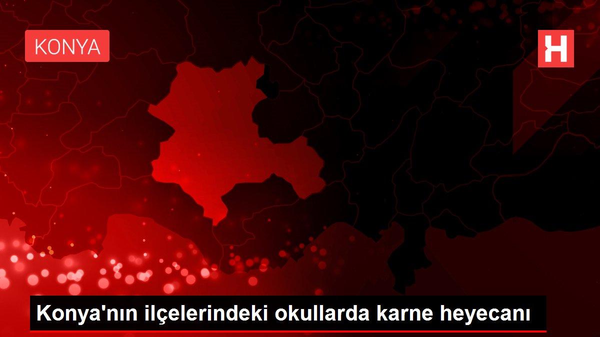 Konya'nın ilçelerindeki okullarda karne heyecanı