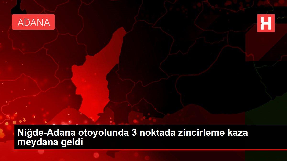 Niğde-Adana otoyolunda 3 noktada zincirleme kaza meydana geldi