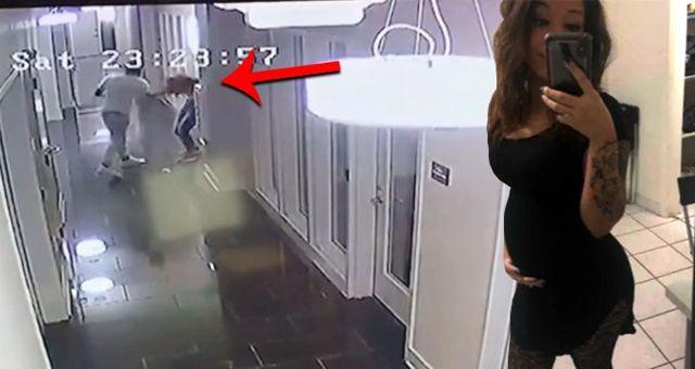 Erkek şiddeti kamerada! Talihsiz kadın, gördüğü şiddet sonucu bebeğini düşürdü