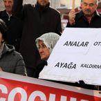 Kayseri'de Diyarbakır annelerine destek eylemi