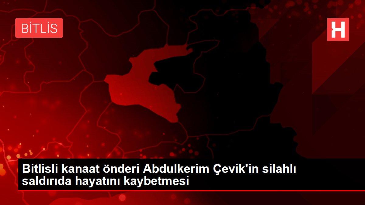 Bitlisli kanaat önderi Abdulkerim Çevik'in silahlı saldırıda hayatını kaybetmesi