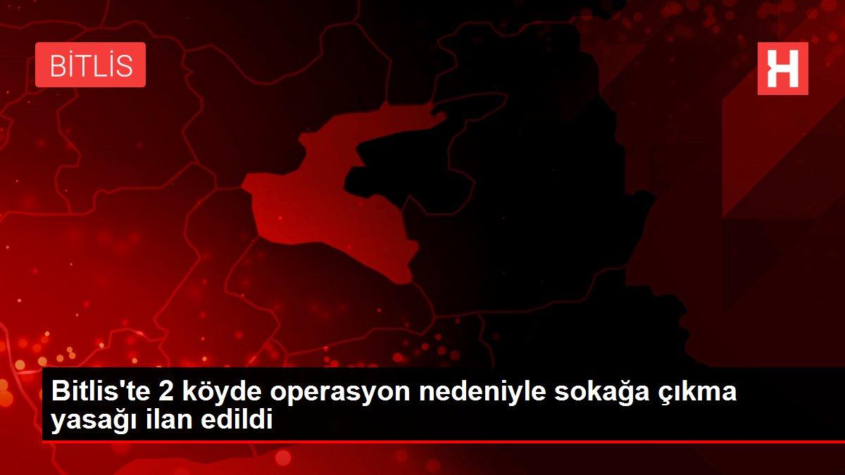 Bitlis'te 2 köyde operasyon nedeniyle sokağa çıkma yasağı ilan edildi