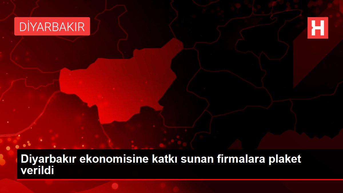 Diyarbakır ekonomisine katkı sunan firmalara plaket verildi