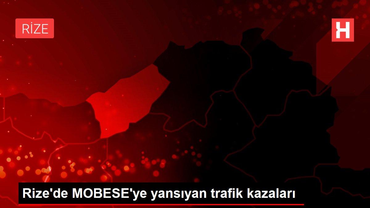 Rize'de MOBESE'ye yansıyan trafik kazaları