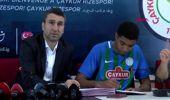Spor çaykur rizespor, yeni transferleriyle sözleşme imzaladı