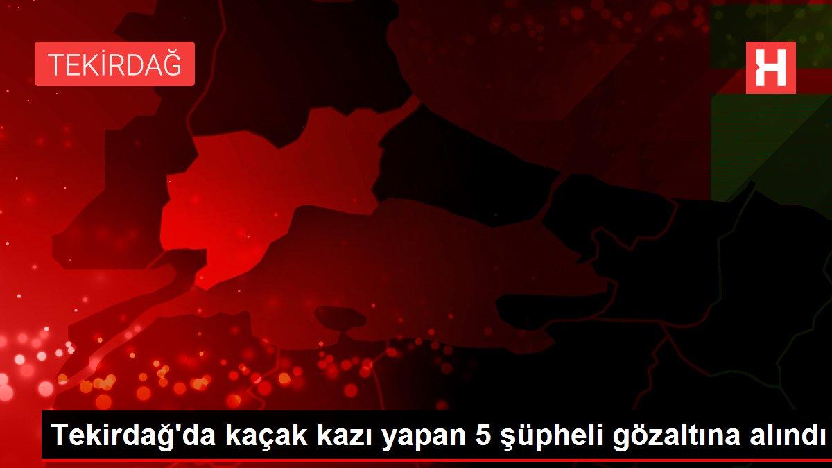 Tekirdağ'da kaçak kazı yapan 5 şüpheli gözaltına alındı