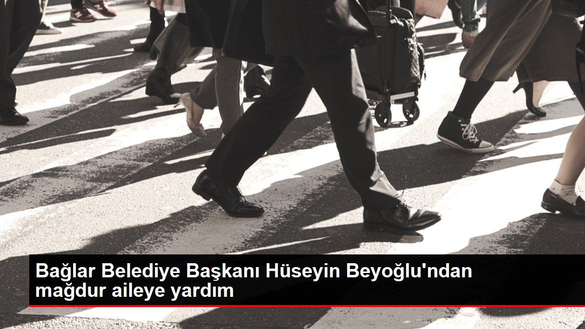 Bağlar Belediye Başkanı Hüseyin Beyoğlu'ndan mağdur aileye yardım
