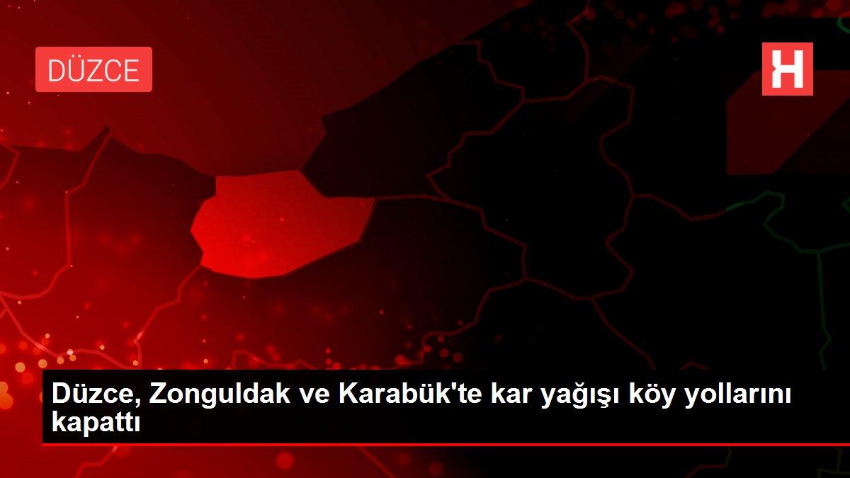 Düzce, Zonguldak ve Karabük'te kar yağışı köy yollarını kapattı