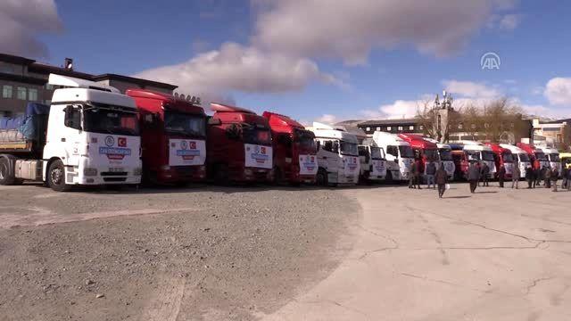 İdlib'e 20 tır insani yardım malzemesi gönderildi
