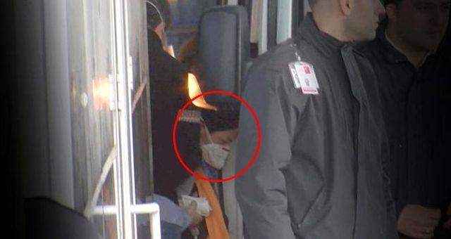 İstanbul'da büyük paniğe neden olan Çinli kadın, ülkesine gönderilirken görüntülendi