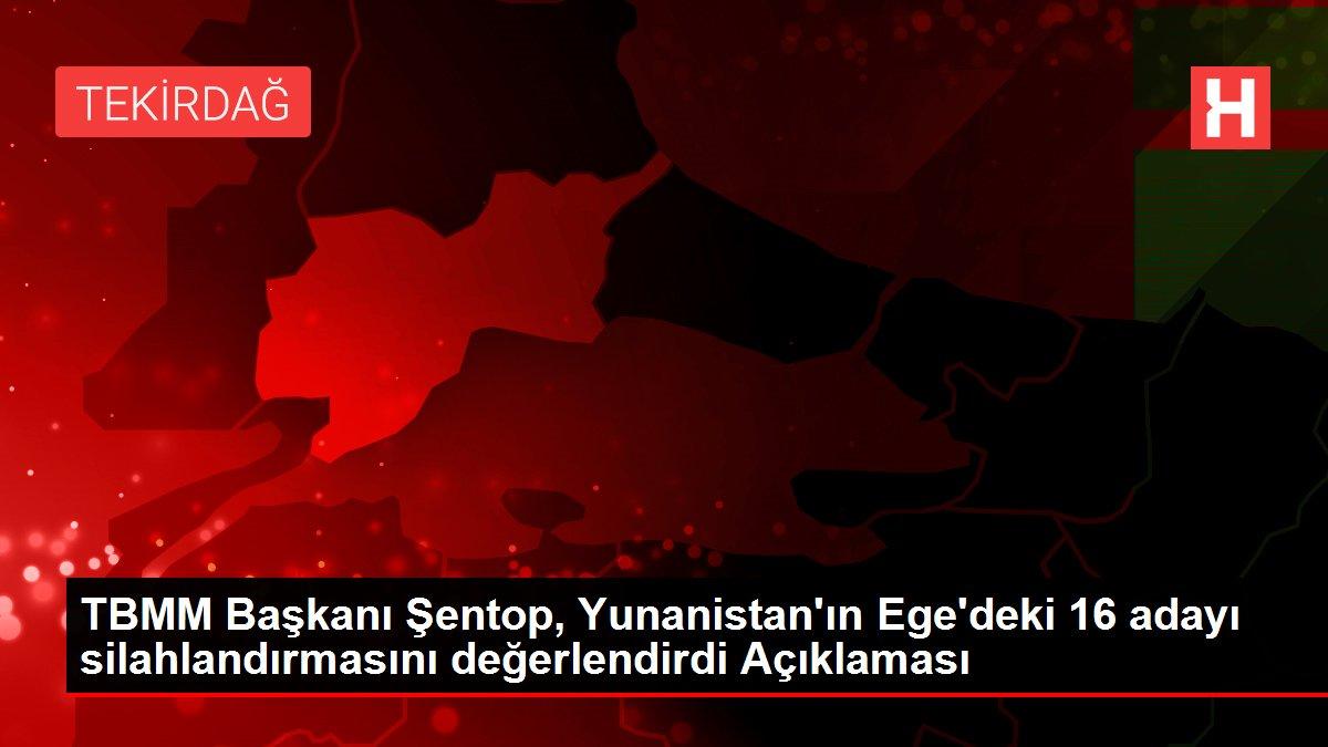 TBMM Başkanı Şentop, Yunanistan'ın Ege'deki 16 adayı silahlandırmasını değerlendirdi Açıklaması
