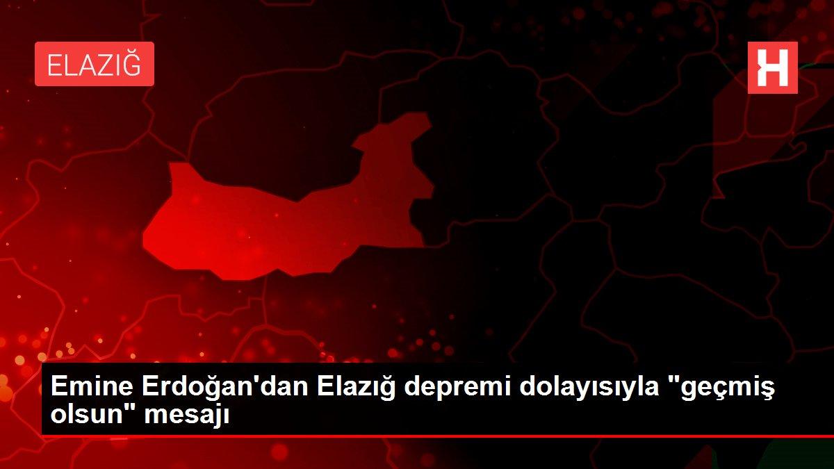 Emine Erdoğan'dan Elazığ depremi dolayısıyla