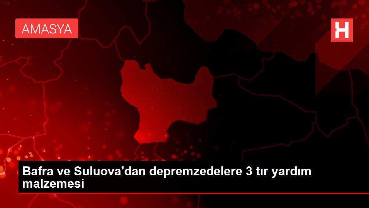 Bafra ve Suluova'dan depremzedelere 3 tır yardım malzemesi