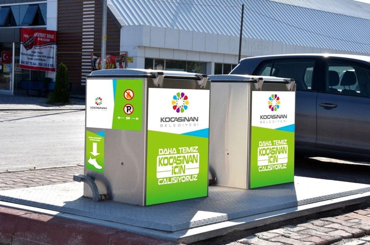 Kocasinan Belediyesi, konteynerlere görsel zenginlik kazandırdı