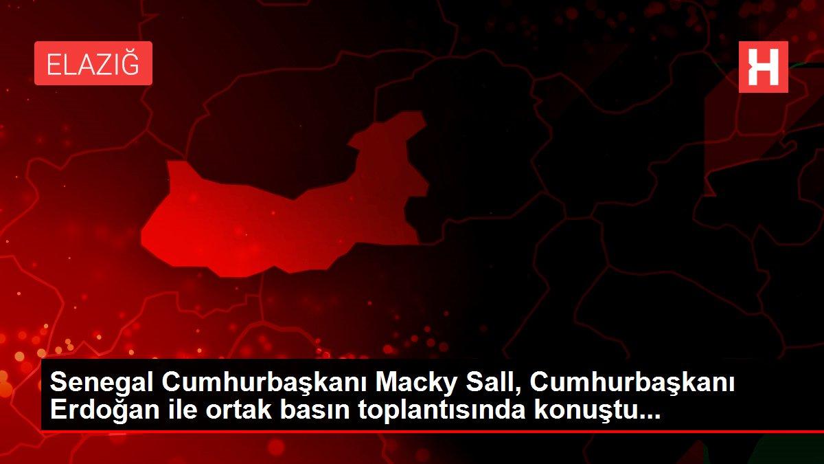 Senegal Cumhurbaşkanı Macky Sall, Cumhurbaşkanı Erdoğan ile ortak basın toplantısında konuştu...