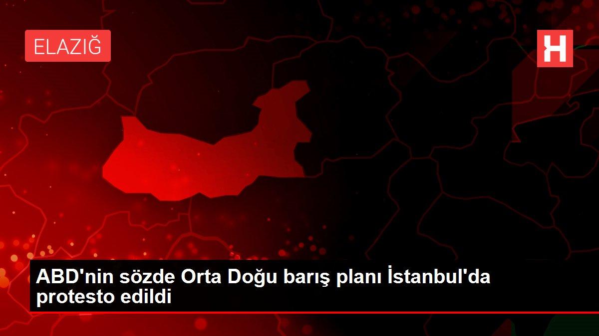 ABD'nin sözde Orta Doğu barış planı İstanbul'da protesto edildi