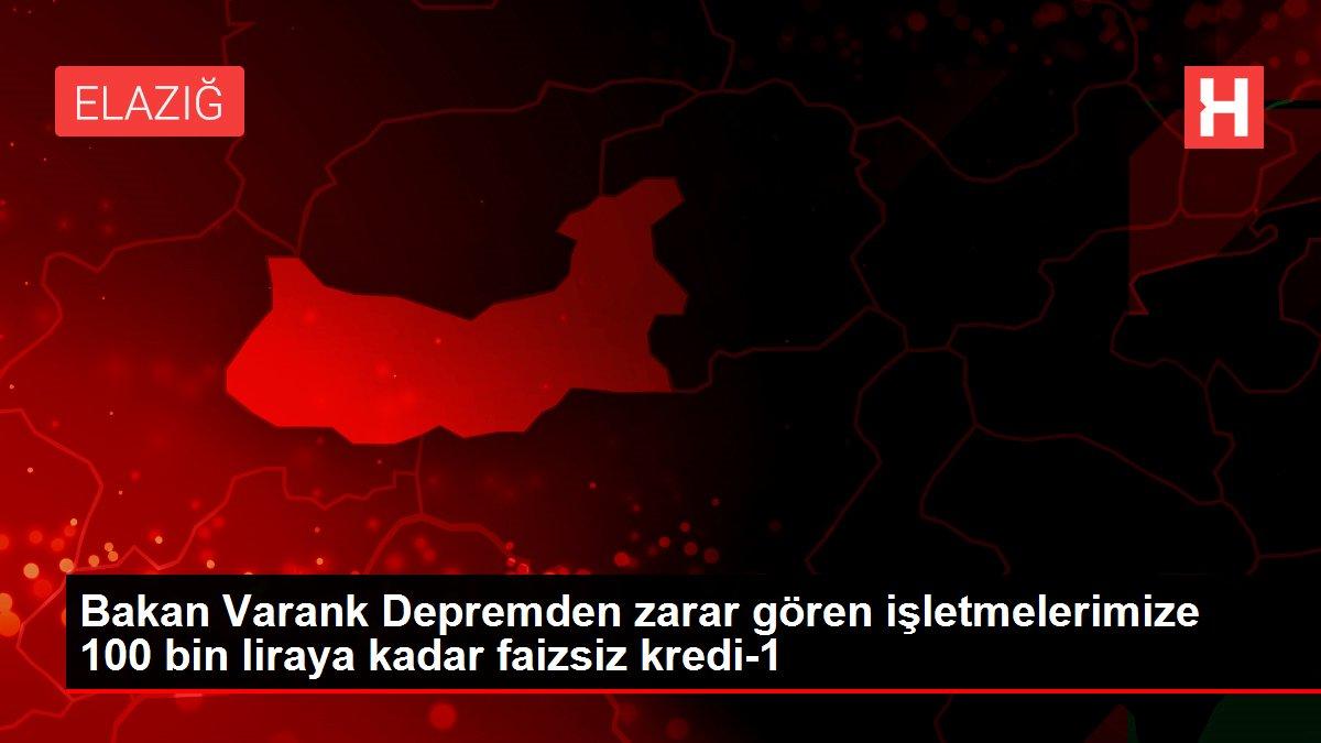 Bakan Varank Depremden zarar gören işletmelerimize 100 bin liraya kadar faizsiz kredi-1